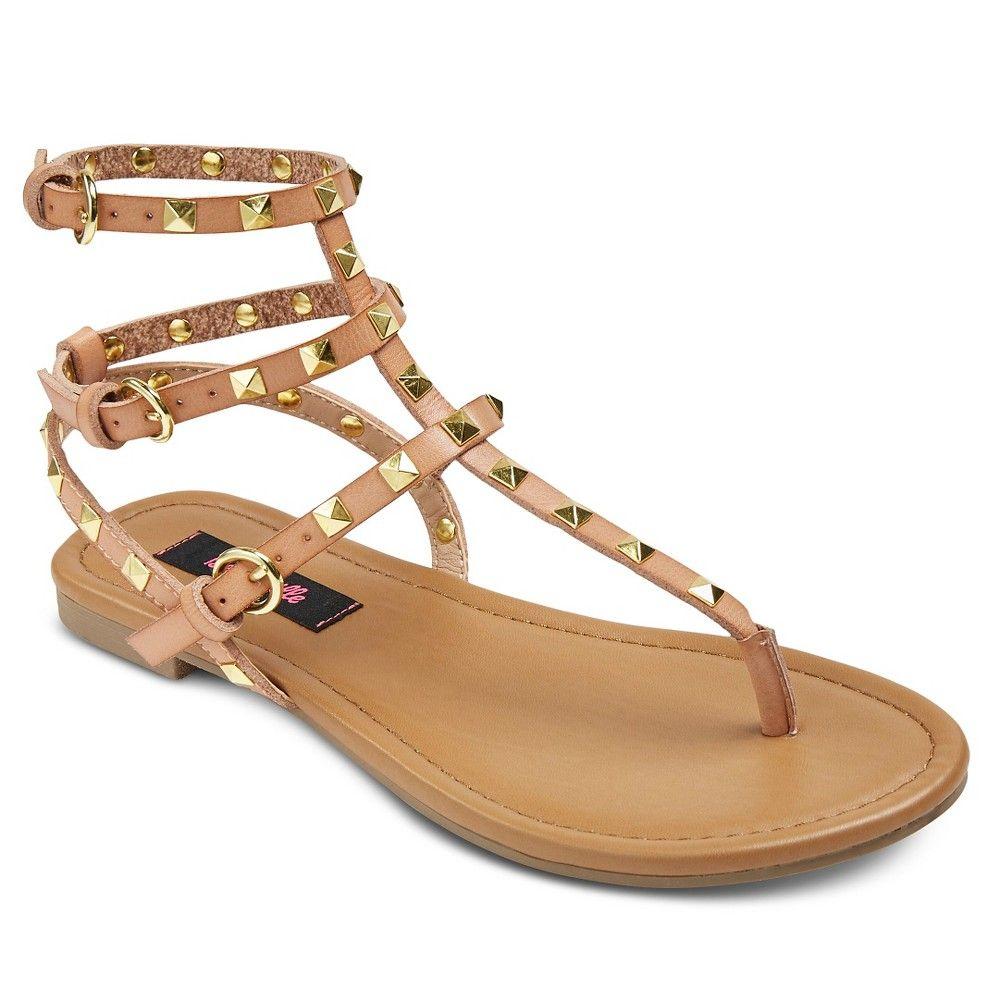 77aa8939fb5 Women s Betseyville Pyramid Stud Gladiator Sandals - Natural 9.5 ...