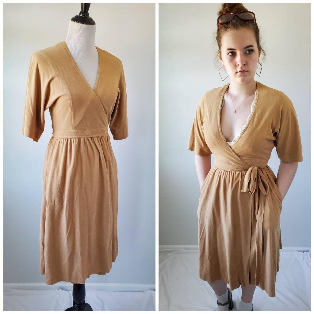 1970s Lanz Of Salzburg Vintage 70s Beige Wrap Dress Etsy Wrap Dress Vintage Dresses Half Sleeve Dresses [ 1024 x 1024 Pixel ]