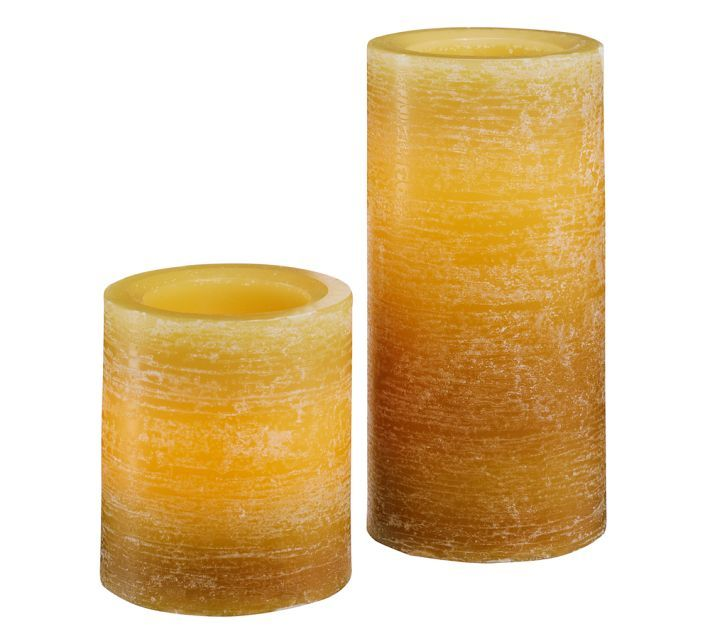 Pottery Barn Flameless Candles Fascinating Pottery Barn Ombre Flameless Wax Pillar Candlelove The Bright Wax