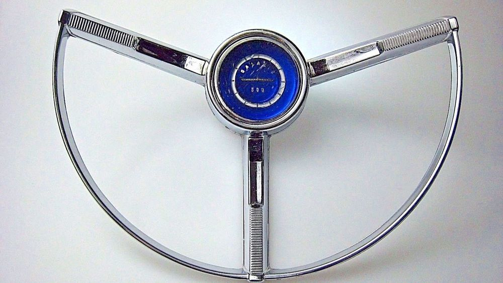 1964 Ford Galaxie 500 Steering Wheel Horn Ring With Blue Insert Ford Galaxie Ford Galaxie 500 1964 Ford