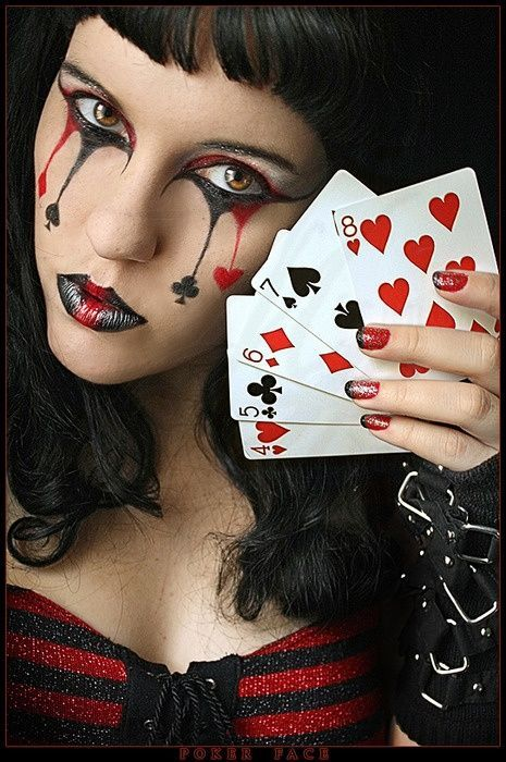Sexy queen of hearts makeup