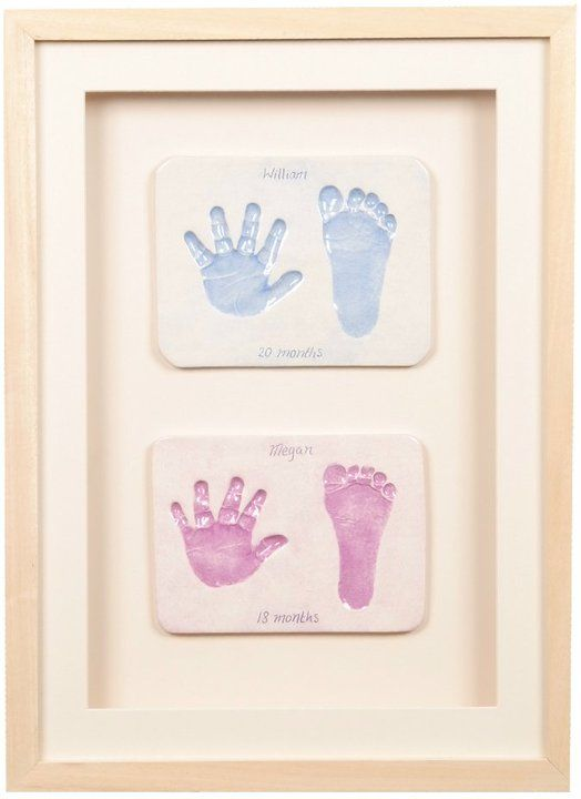 clay imprints framed baby