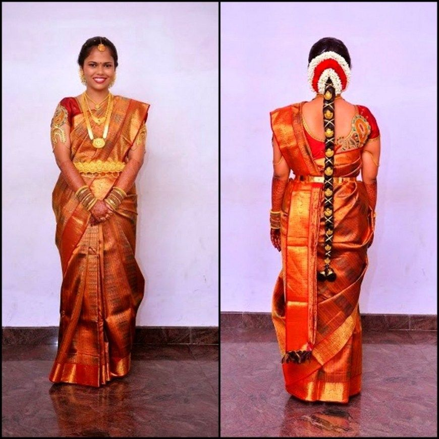 Tamilnadu Wedding Hairstyles For Long Hair Bridalhairstyletamilnaduwedding South Indian Bride Saree Blouse Patterns Simple Sarees
