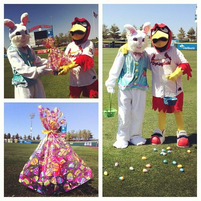 The Easter Bunny hooped into Hammons Field for the Easter Egg EGGstravaganza.