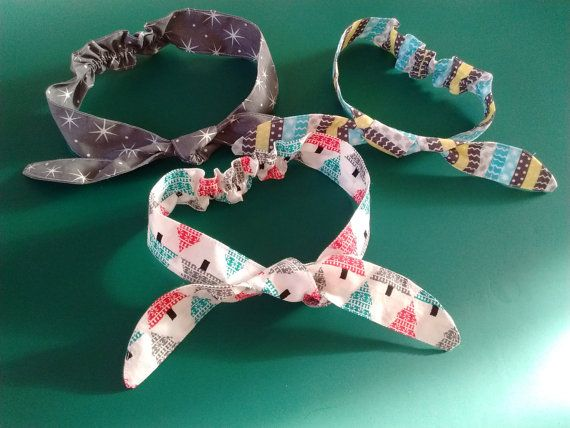 Gorgeous baby girl headbands suitable for Christmas by EdieBees