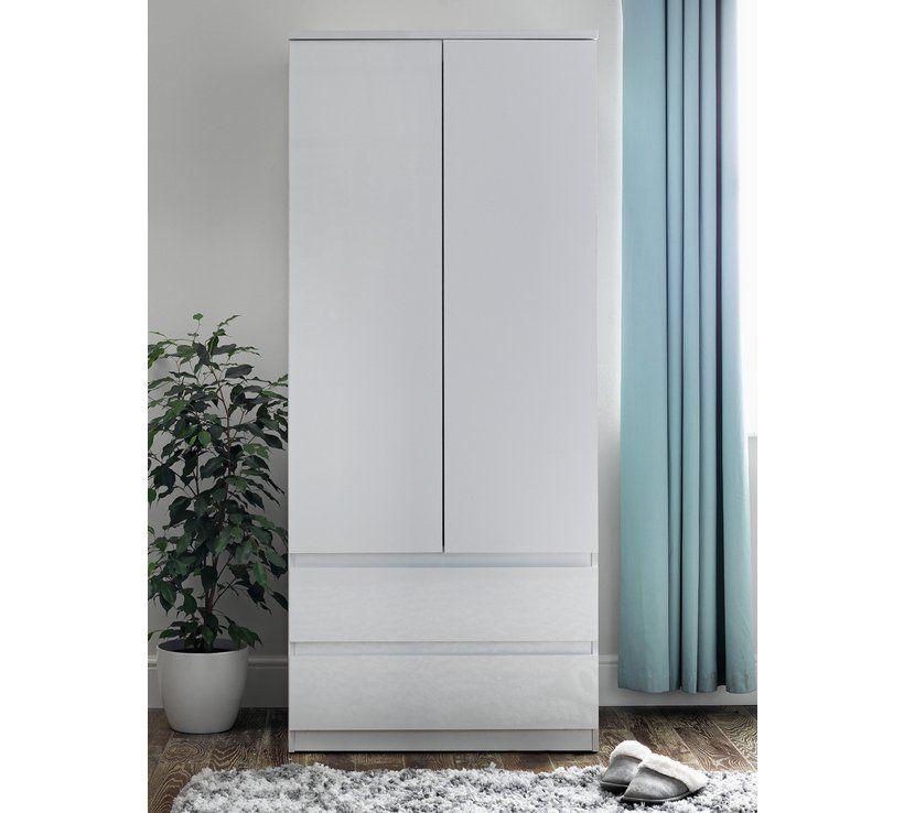 Buy Argos Home Jenson Gloss 2 Door 2 Drawer Wardrobe White Wardrobes Argos Argos Home White Wardrobe Argos