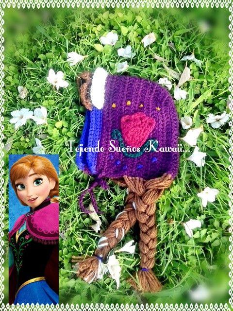 Hat crochet Anna Frozen...