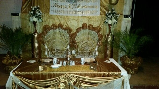 Pin by Tisa Saenz on 50th wedding anniversary | Table ...
