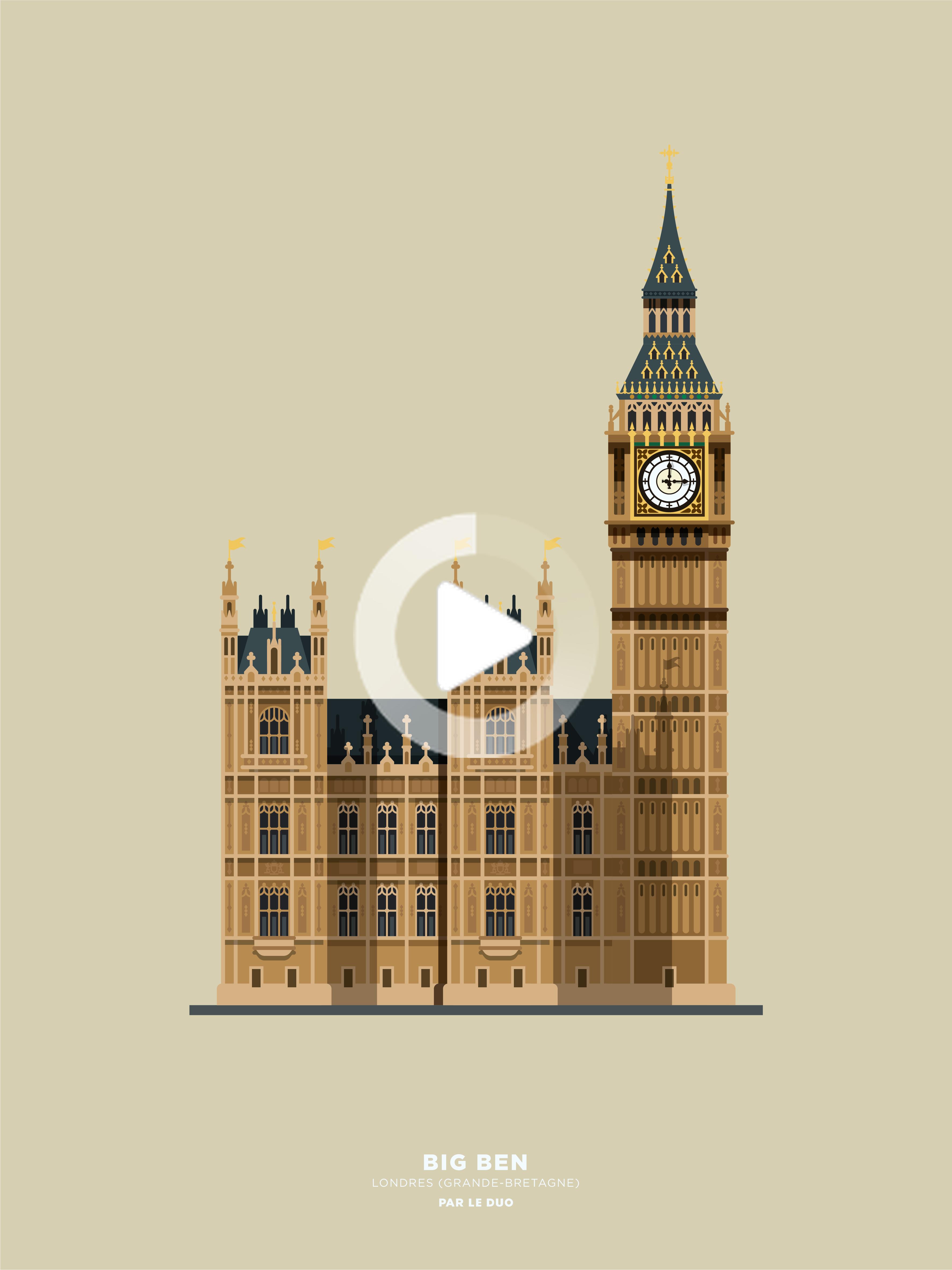 Big Ben By Le Duo Big Ben City Illustration Medical Illustration