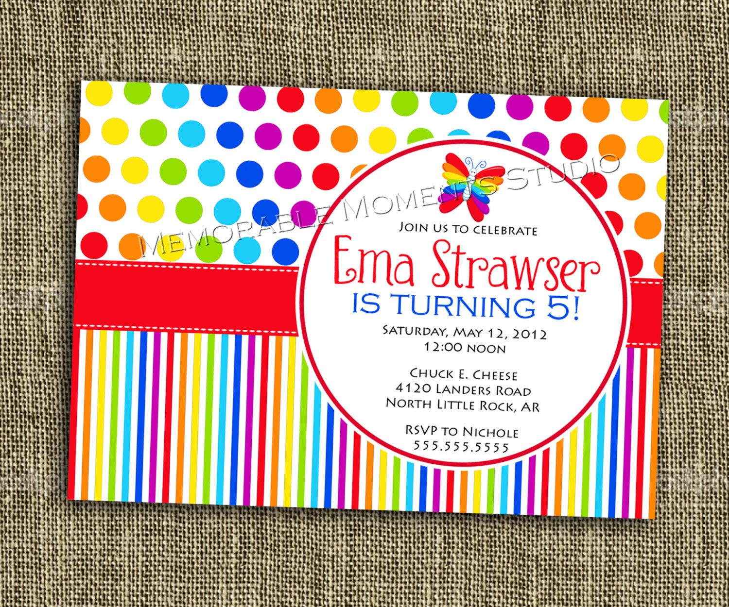 printable invitation rainbow party collection bright and colorful