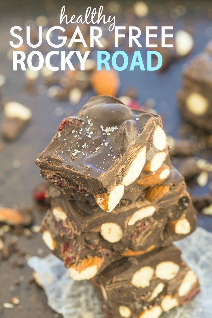 Healthy Sugar Free Rocky Road which takes less than 5 minutes to whip up and customisable! {vegan, gluten free, paleo, dairy free recipe}- thebigmansworld.com