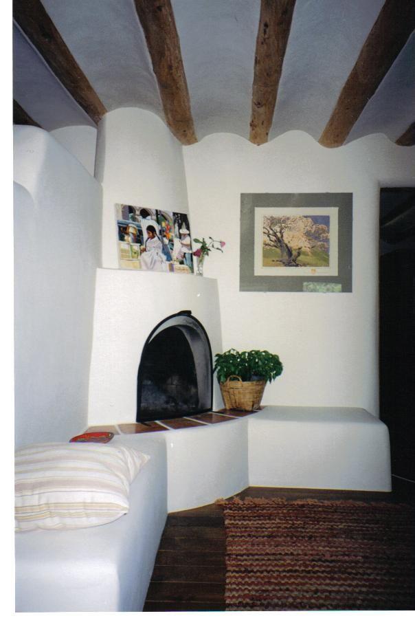 Kiva Fireplace With Banco Camini Ad Angolo Camino