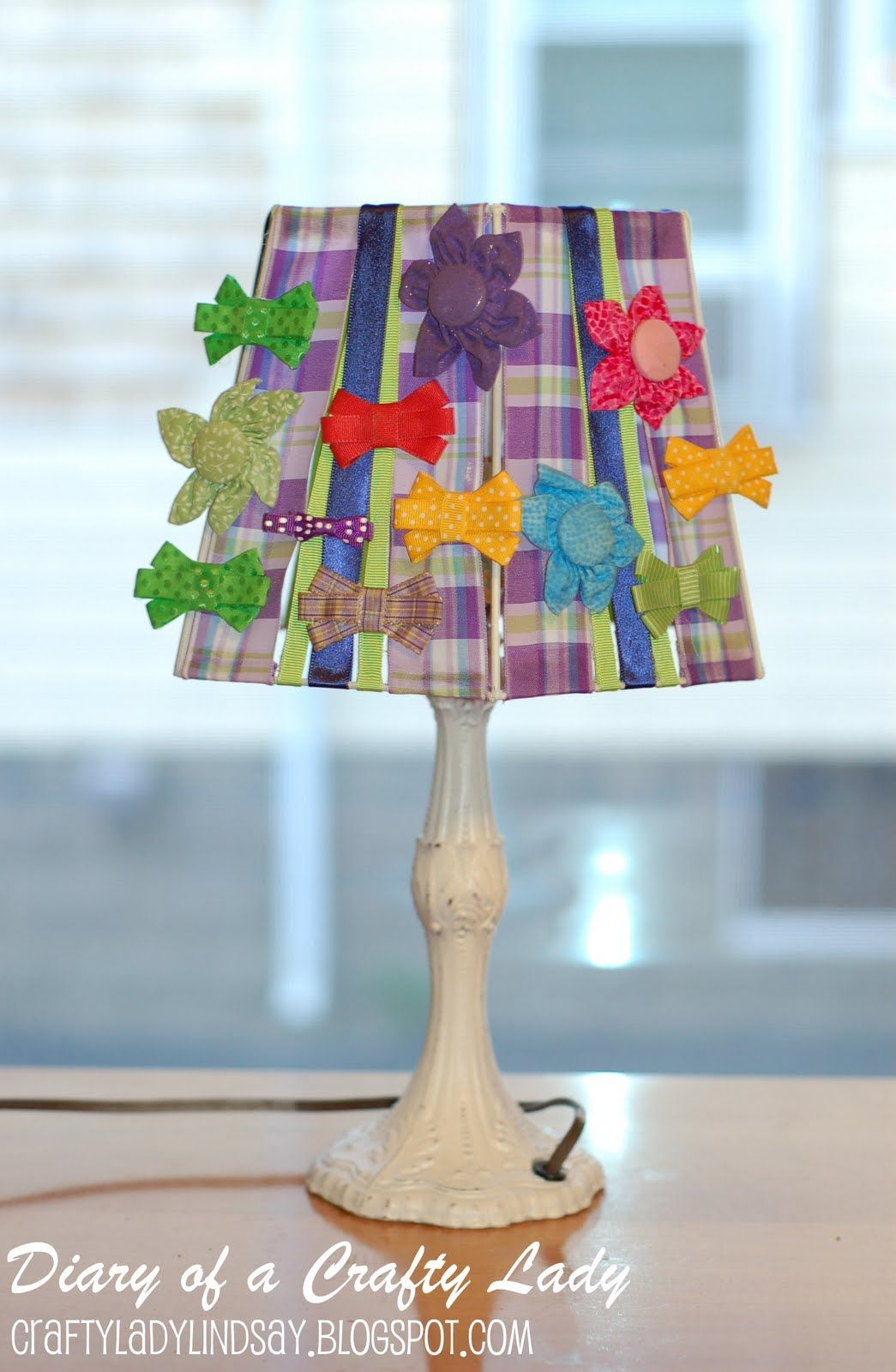 Lampshade bow holder glue ribbon strips onto lampshade at top and lampshade bow holder glue ribbon strips onto lampshade at top and bottom greentooth Gallery