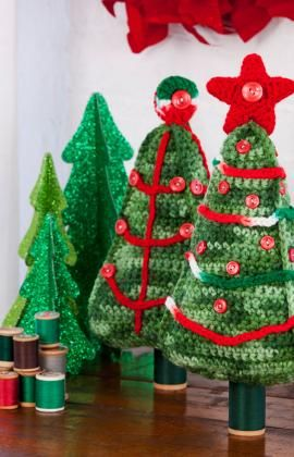 1500 Free Amigurumi Patterns: Free Christmas Tree Duo Crochet Pattern
