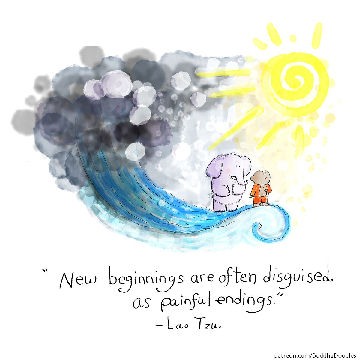 New Beginnings Are Often Discussed As Painful Endings Lao Tzu