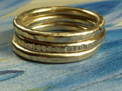 Heavy Gold Stacking Rings by DeafCatStudios on Etsy - StyleSays
