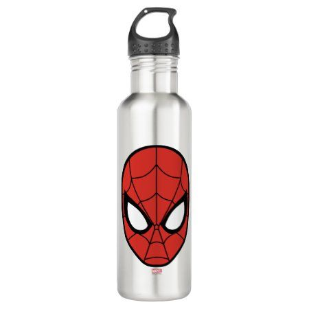 Spider-Man Head Icon Stainless Steel Water Bottle - tap/click to get yours right now! #StainlessSteelWaterBottle  #spiderman #spider #man #spiderman #head
