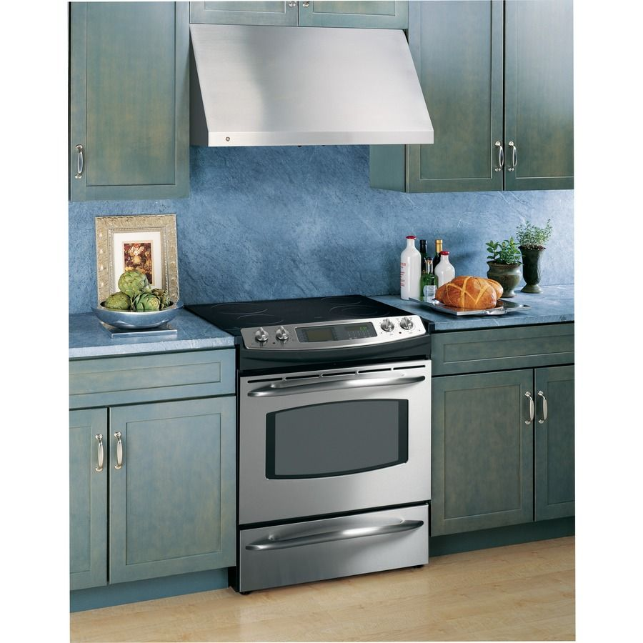Shop Ge Profile Undercabinet Range Hood Stainless Steel Common 36 In Actual 36 In At Low Stainless Range Hood Range Hood Wall Mount Range Hood
