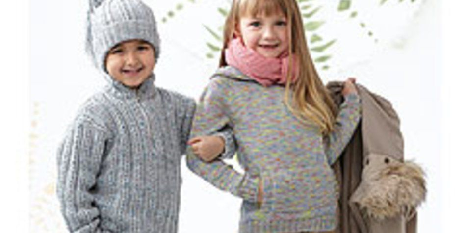 Photo of Strickkinderpullover: Mädchenpullover mit Kapuze | familie.de