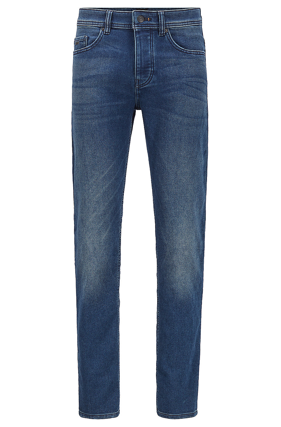 Boss Tapered Fit Jeans In Vintage Look Knitted Denim Knit Denim Jeans Fit Denim Fashion