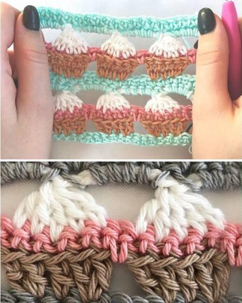 Cupcake Crochet Stitch - Free Pattern & Video | crochet | Pinterest ...