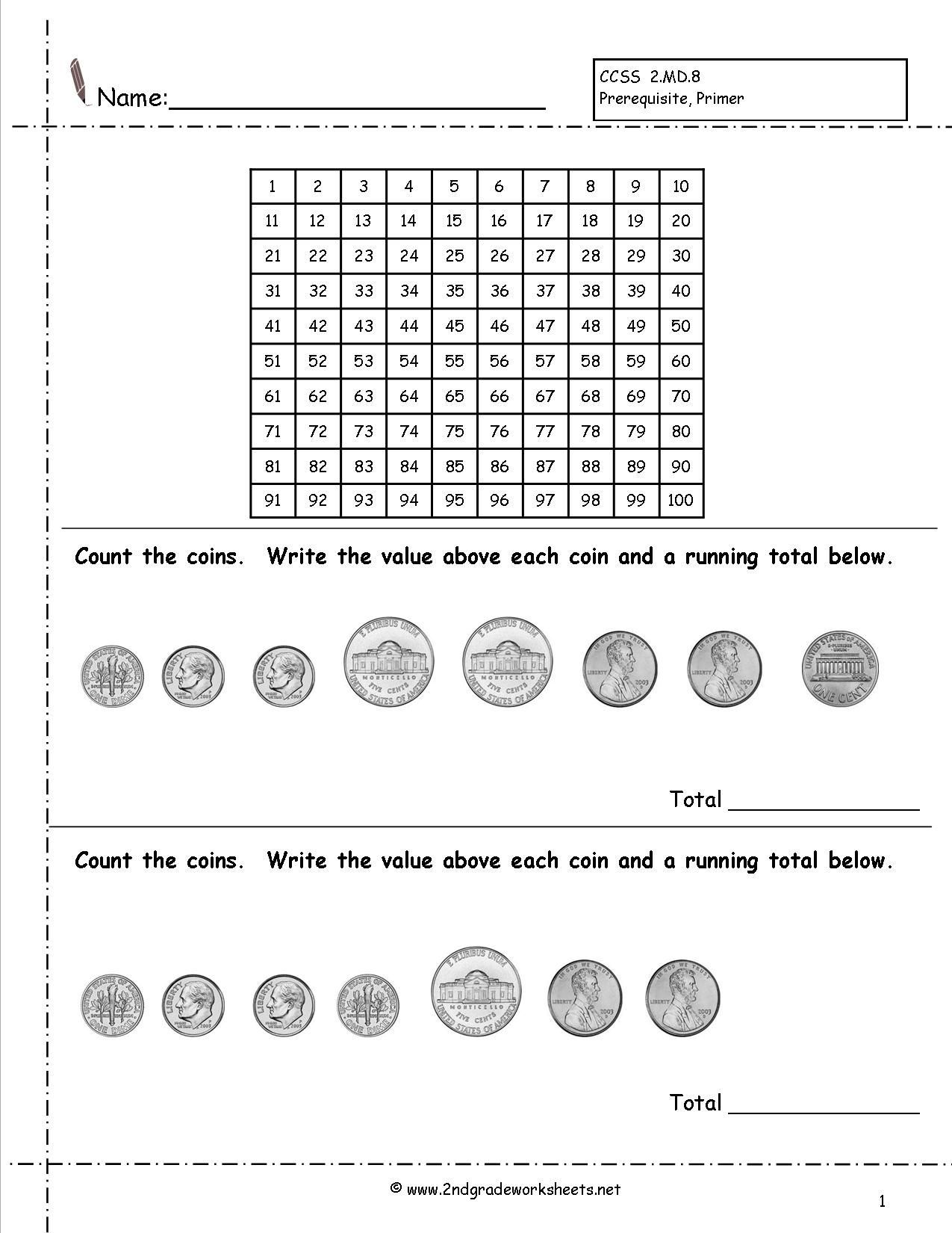 Counting Coins Worksheet My Style Counting Money