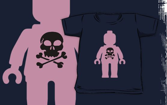 """""""Minifig with Skull Design by Customize My Minifig"""" Kids Clothes by ChilleeW   Redbubble"""