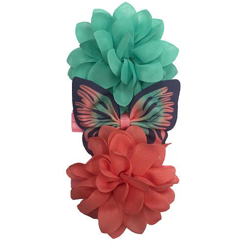 Fashionable and stylish, this unique butterfly -shaped printed ribbon  and large multi-petal coral & mint flower headwrap offers a chic  and kid-trendy look! Imported.<br><br>Koala Baby creates stylish clothing, shoes, nursery decor and beautiful gifts in colors and patterns that can be mixed and matched to blend in any nursery theme. Presented as an exclusive Toys'R'Us and Babies'R'Us value, Koala Baby offers a fashionable and economical answer for your baby's needs, yet are beautiful…