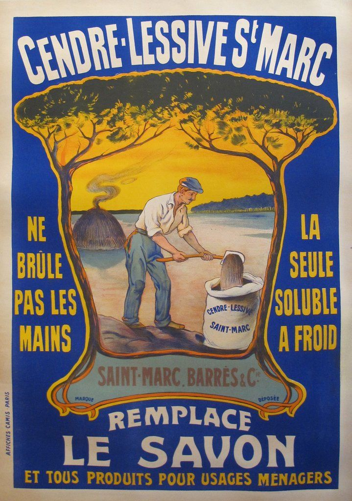 1920s original french poster cendre lessive st marc - Lessive saint marc composition ...