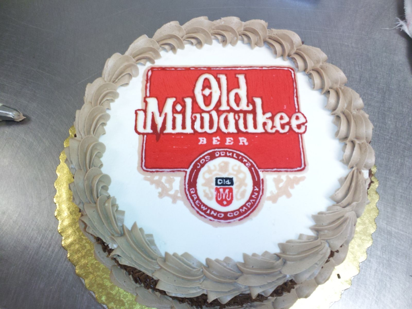 Marvelous Old Milwaukee Beer Cake With Images Beer Cake Cake Milwaukee Funny Birthday Cards Online Sheoxdamsfinfo