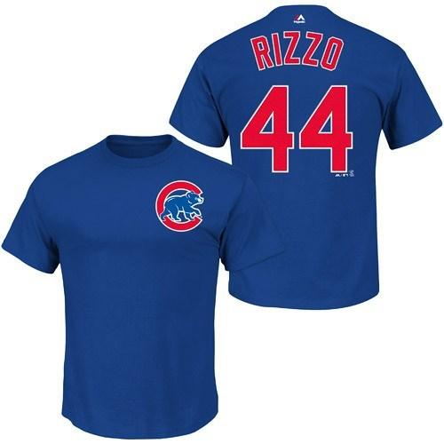 Chicago Cubs Anthony Rizzo Name & Number T-Shirt | Chicago cubs ...