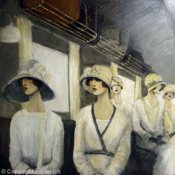 art deco fashion,1920's paintings, art deco paintingsof women 1920's