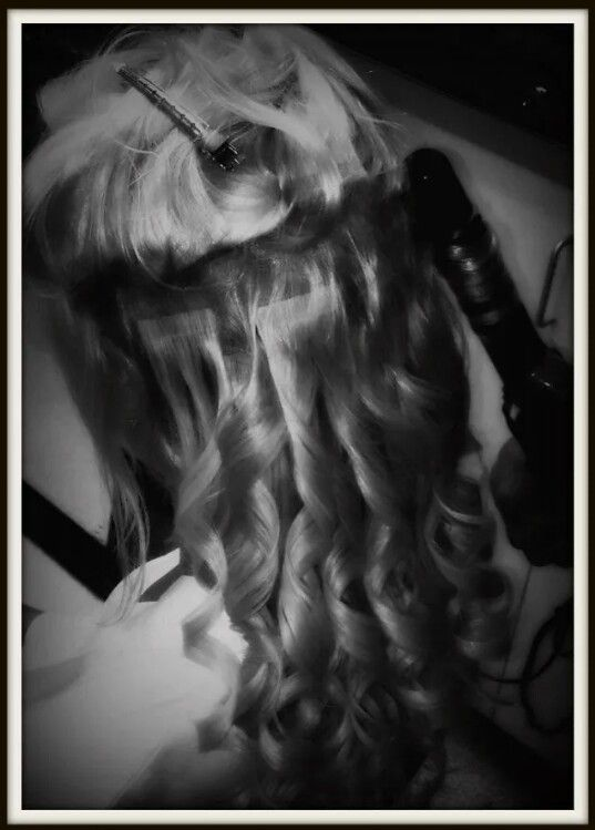 So easy to curl , flat iron or do anything you would do with your own hair.