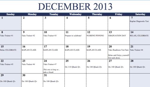 Kaplan weekly study plan nclex