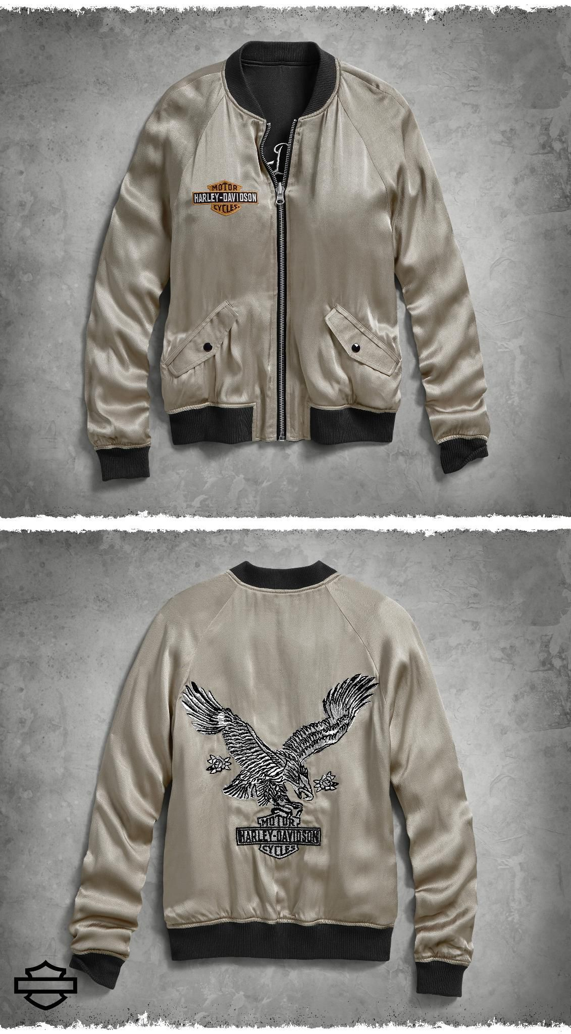 4598b7e8c We take the classic bomber and double up the vintage style. The ...