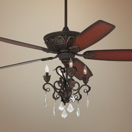 60 Quot Casa Montego Bronze Chandelier Ceiling Fan Ceiling Fan Chandelier Antique Ceiling Fans