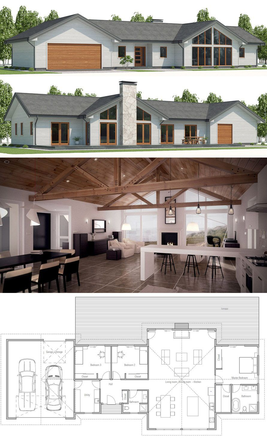 Architecture Modern Farmahouse Plan Architecture Modern Farmahouse