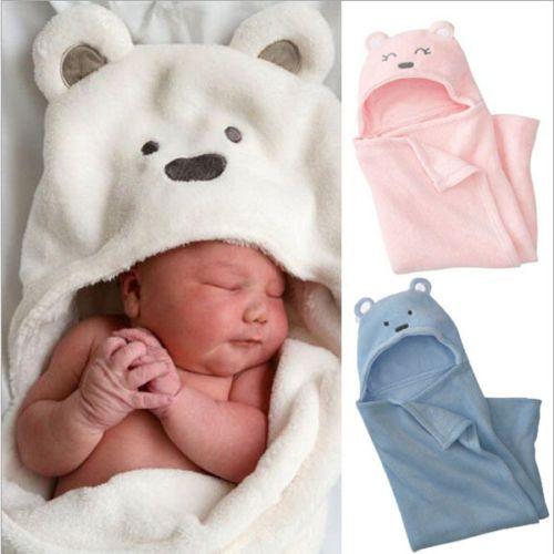 Bébé filles little princess soft couverture polaire wrap confort balises rose cadeau nouveau