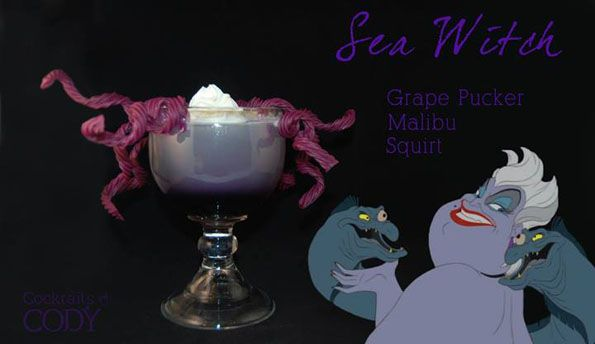 Disney princess (and villain) inspired cocktails!
