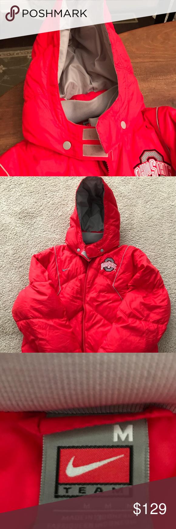 Nike Feather Down Winter Coat Ohio State Buckeye Men S M