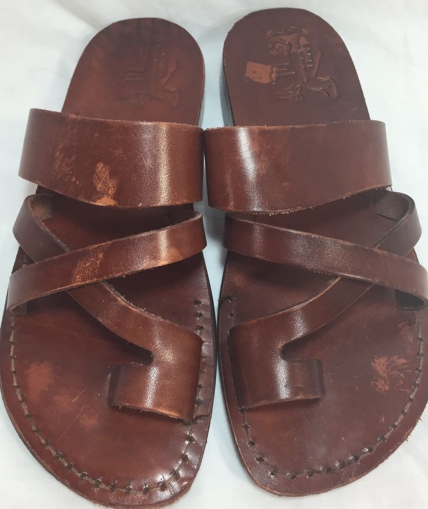 2a020e9be Camel Leather Sandals Made In Jerusalem Brown Classic Size 41 Womens 10  Mens 8  Camel  Sandals