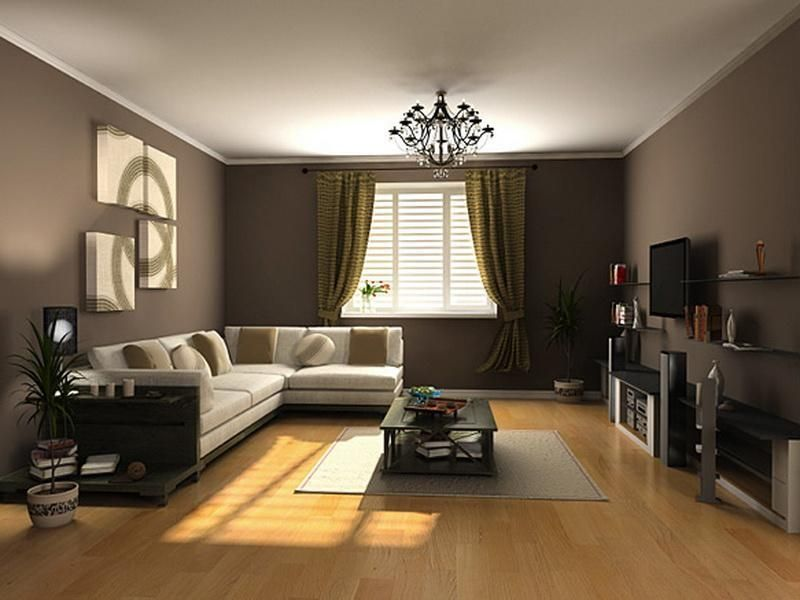 Popular Interior Brown Paint Colors for Living Room  For