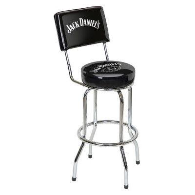 Thumbnail Image Of Jack Daniel S Bar Stool W Backrest Bar Stools