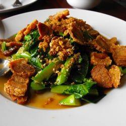 Photo Of Sabai Sabai Simply Thai Germantown Md United States Kana Moo Krob Chinese Broccoli With Crispy Pork Crispy Pork Food Dishes