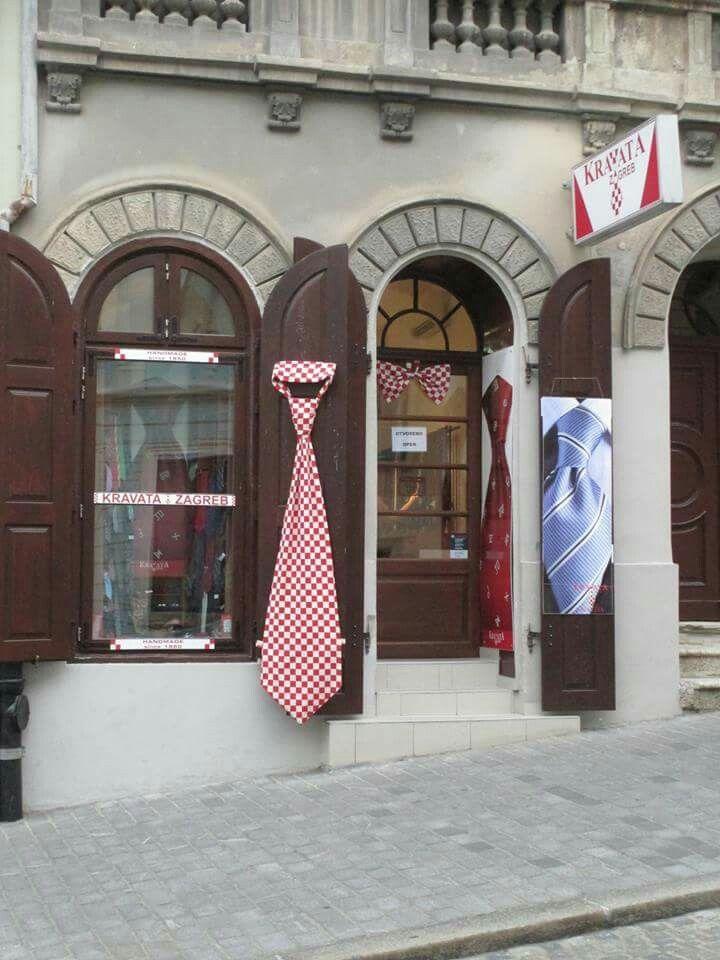 Zagreb Croatia The Homeland Of The Necktie A Shop Zagreb Croatia Neck Tie