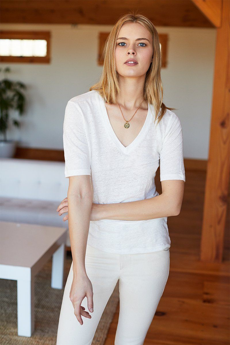 EMERSON FRY LUXE EMERSON T- WHITE LINEN #emersonfry