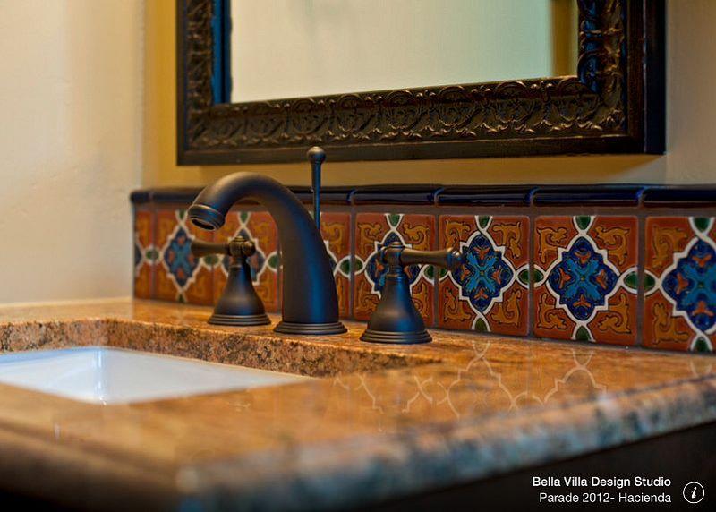 Ideas de dise o de ba o y cocina de azulejos mexicanos de for Banos rusticos mexicanos