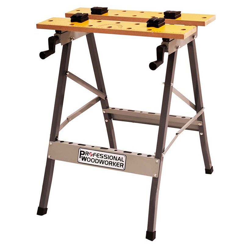 Professional Woodworker Foldable Workbench Foldable Gray Metal In
