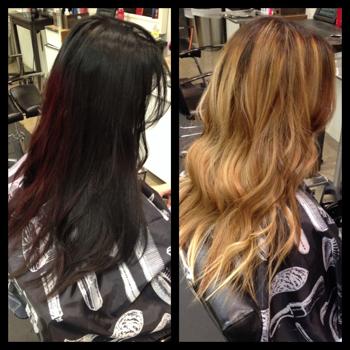 Color Correction Before And After From Black To Sandy Browns And