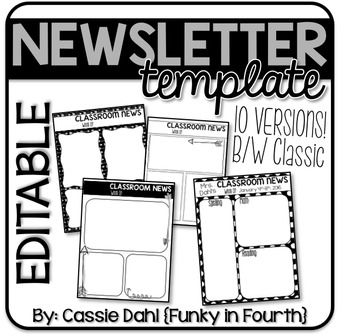 black white classroom newsletter pinterest weekly classroom